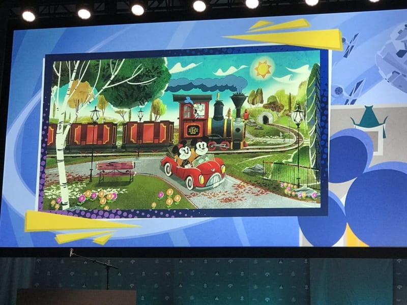 New Mickey and Minnie's Runaway Railway Concept Art