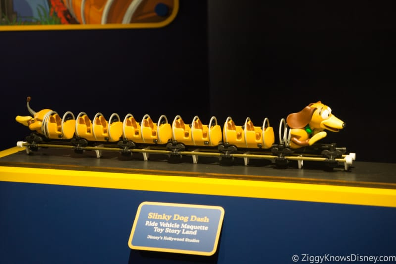 slinky dog dash coaster train model