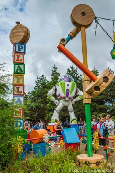 Sneak Peak at Toy Story Land Theming Disneyland Paris entrance