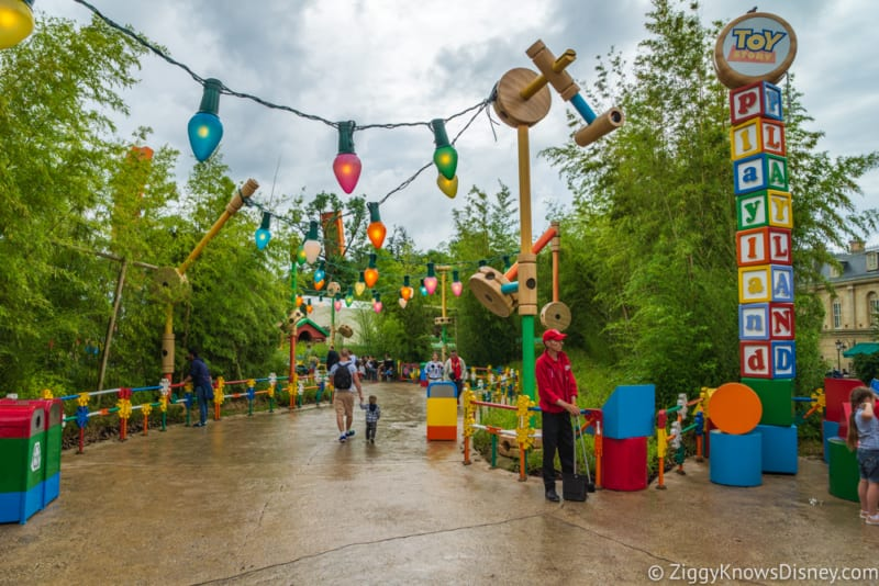 Sneak Peak at Toy Story Land Theming Disneyland Paris pathway