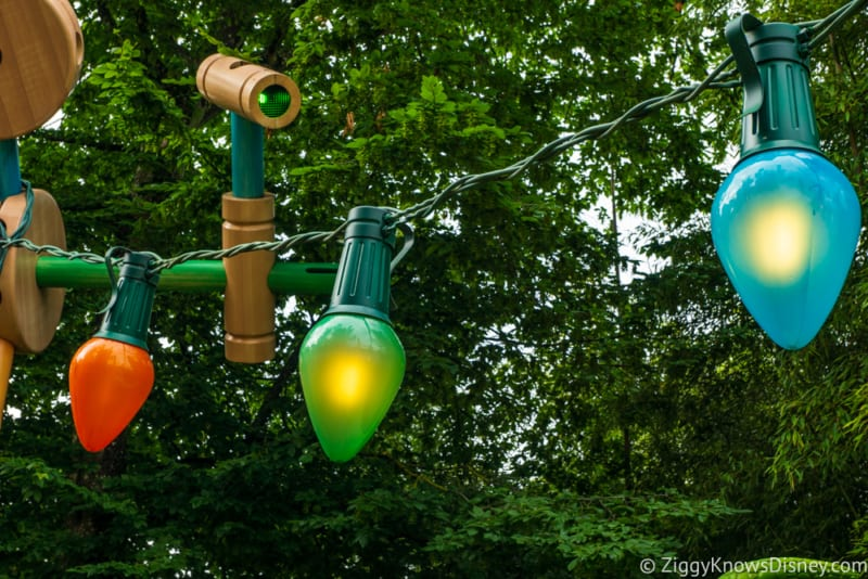 Sneak Peak at Toy Story Land Theming Disneyland Paris lights
