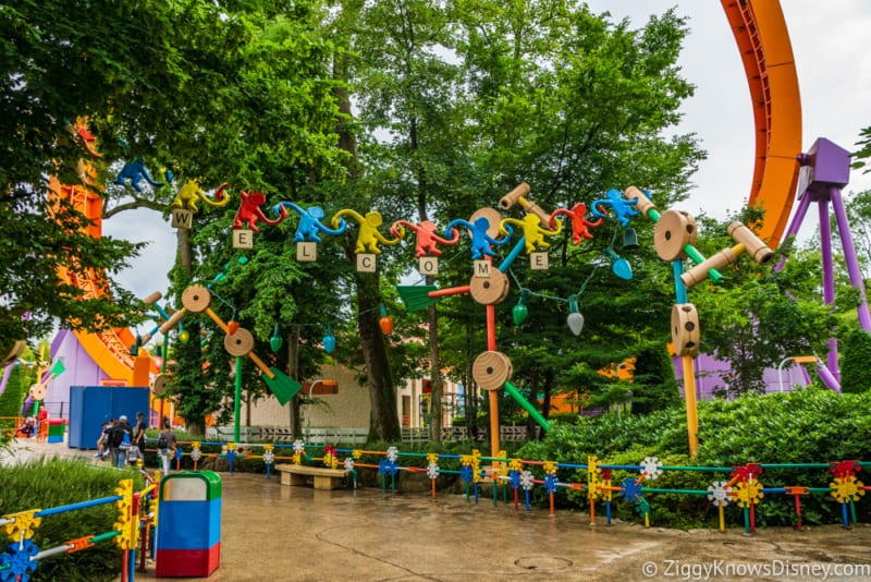 Sneak Peak at Toy Story Land Theming Disneyland Paris welcome