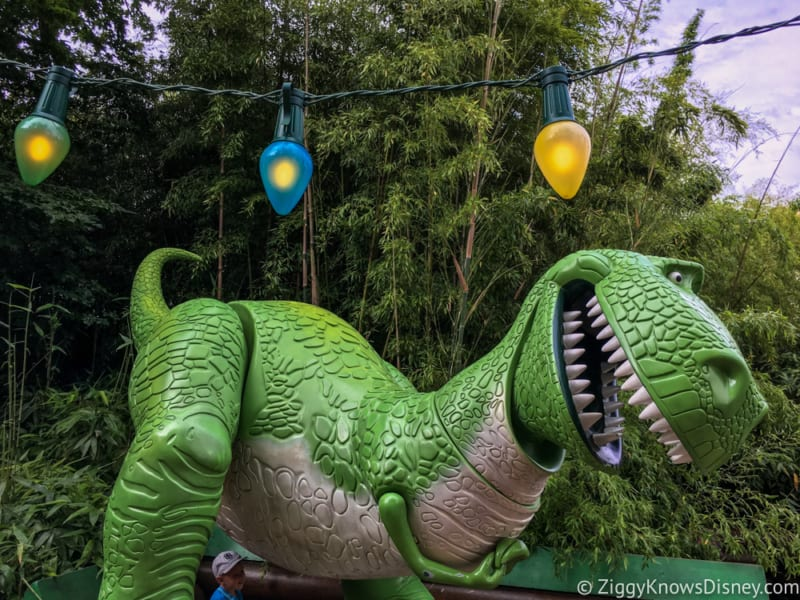 Sneak Peak at Toy Story Land Theming Disneyland Paris Rex figure