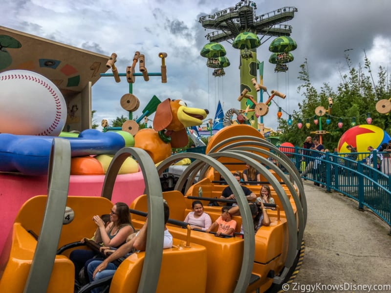 Sneak Peak at Toy Story Land Theming Disneyland Paris slinky dog zigzag spin