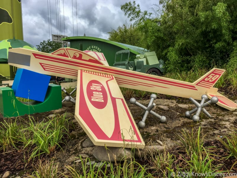 Sneak Peak at Toy Story Land Theming Disneyland Paris blue sky plane