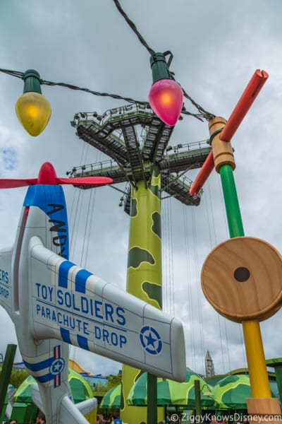 Sneak Peak at Toy Story Land Theming Disneyland Paris Toy Soldiers Parachute Drop