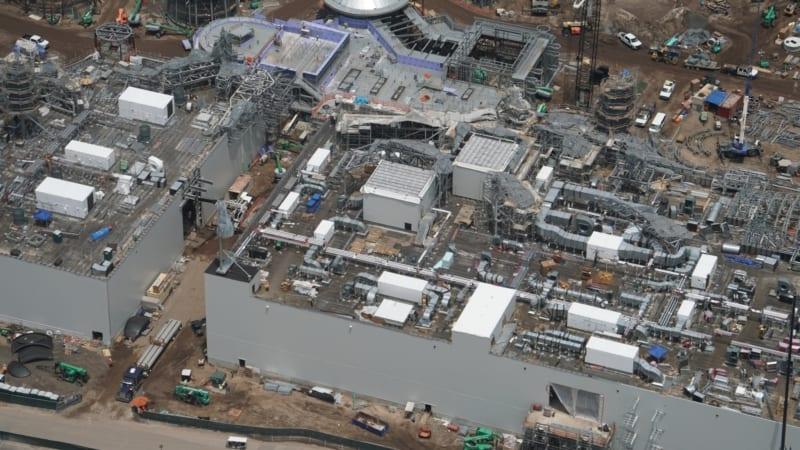Star Wars Galaxy's Edge Construction Update June 2018 battle escape HVAC