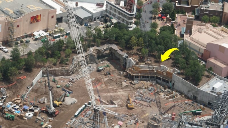 Star Wars Galaxy's Edge Construction Update June 2018 tunnel concrete forms
