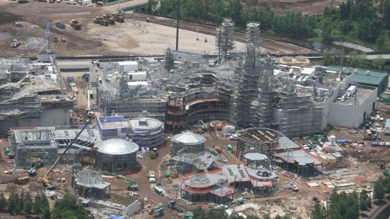 Star Wars Galaxy's Edge Construction Update June 2018 millennium falcon