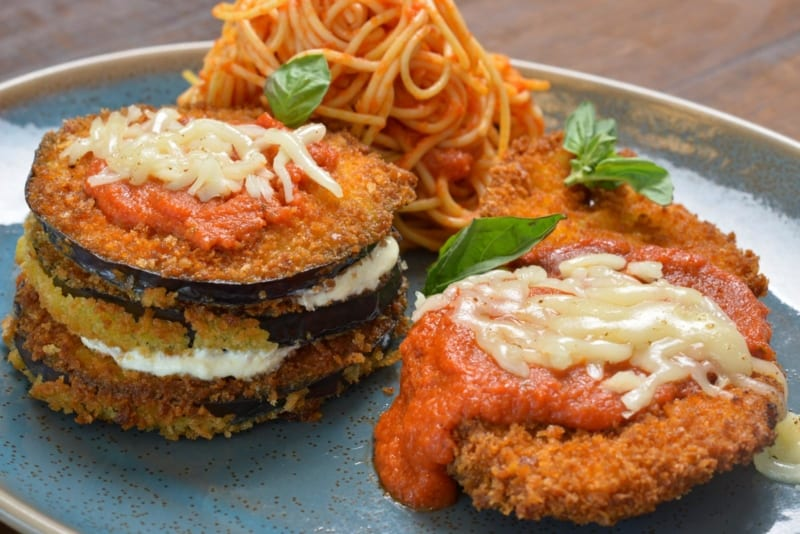 Terralina Crafted Italian Opening June 28th eggplant parmesan stack