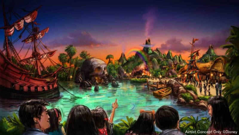 3 New Lands Announced for Tokyo DisneySea Expansion Project Peter Pan land