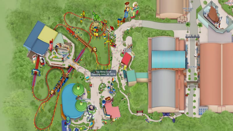Toy Story Land Digital Map Now Available on My Disney Experience