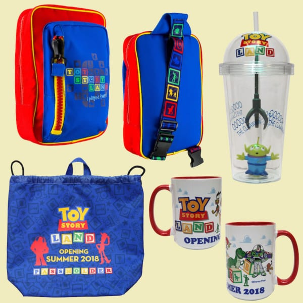 More Toy Story Land Merchandise Ahead of the Opening June 30th backpacks and cups