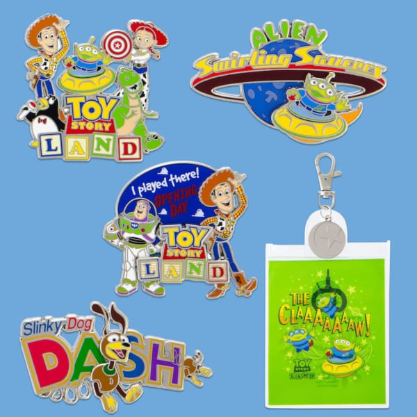 More Toy Story Land Merchandise Ahead of the Opening June 30th pins