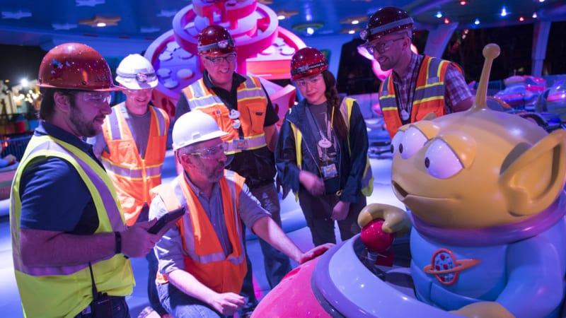 Nighttime Footage Toy Story Land