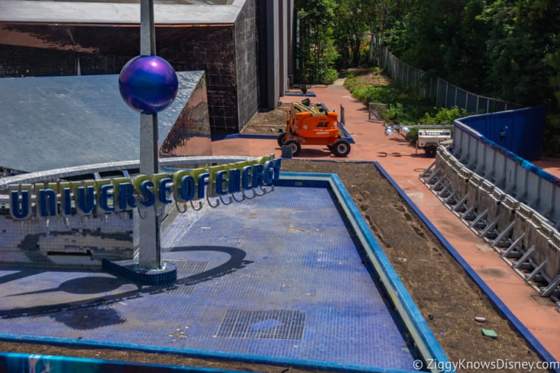 PHOTOS: Tiles Being Stripped From Universe of Energy Pavilion for Guardians Coaster