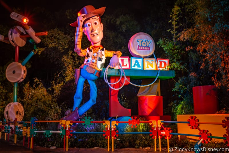 Toy Story Land at Night