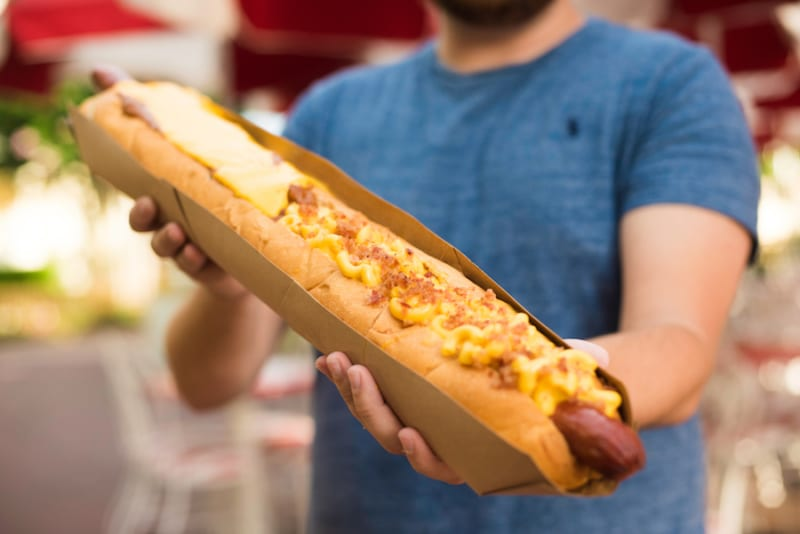 Two Foot Long Hot Dog Casey's Corner