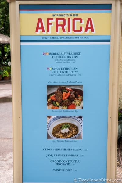 2018 Epcot Food and Wine Festival Menus