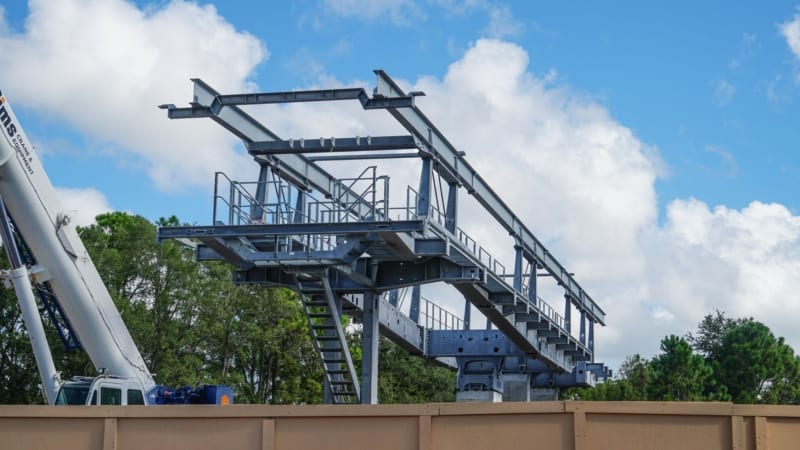 Disney Skyliner Construction Update August 2018 Epcot Station