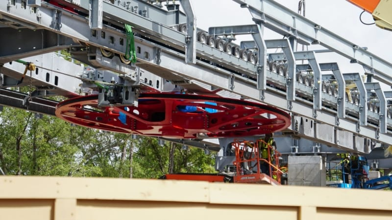 Disney Skyliner Construction Update August 2018 Epcot Station Bull Wheel