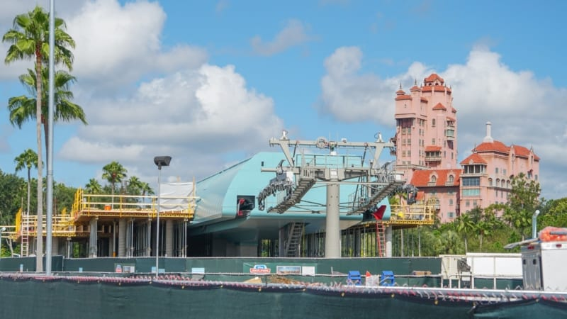 Disney Skyliner Construction Update August 2018 Hollywood studios station