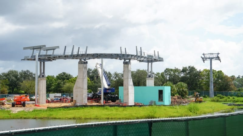 Disney Skyliner Construction Update August 2018 turn station