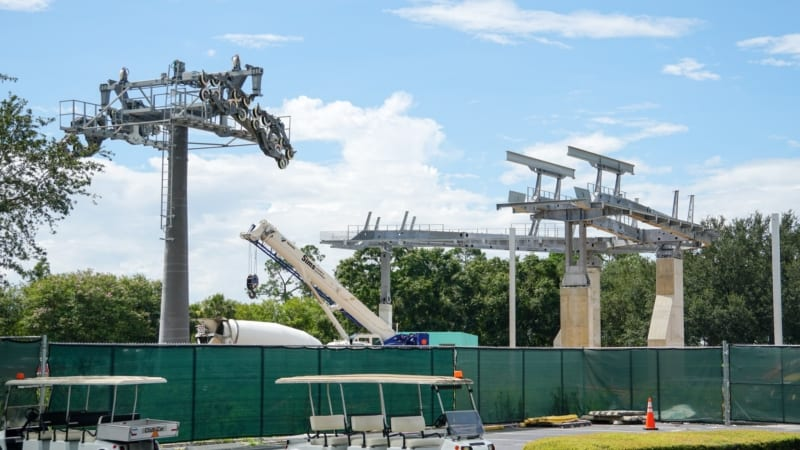 Disney Skyliner Construction Update August 2018 turn station epcot riviera resort