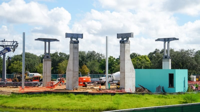 Disney Skyliner Construction Update August 2018 turn station old