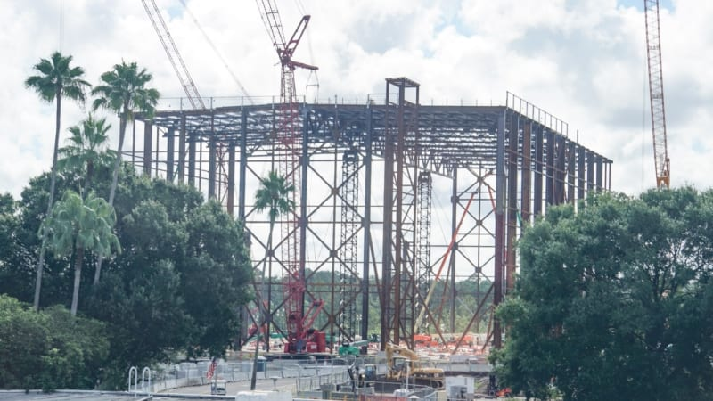 Guardians of the Galaxy Coaster Construction August 2018 it's huge!