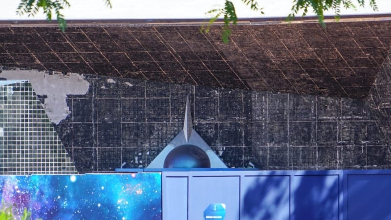 Guardians of the Galaxy Coaster Construction August 2018 tiles down