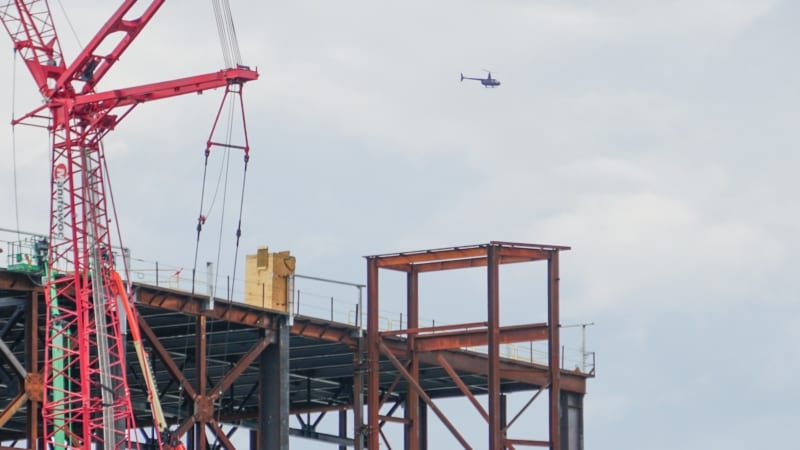 Guardians of the Galaxy Coaster Construction August 2018 helicopter