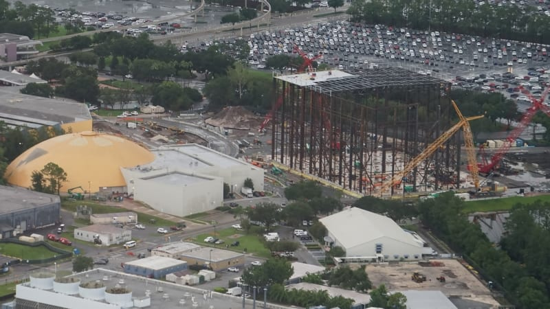 PHOTOS: Roof Being Installed on Guardians of the Galaxy Coaster in Epcot