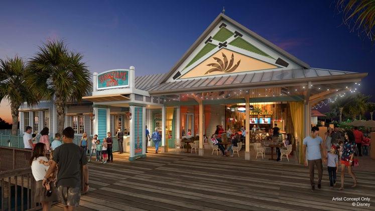 Sebastian's Bistro Coming to Disney's Caribbean Beach concept art