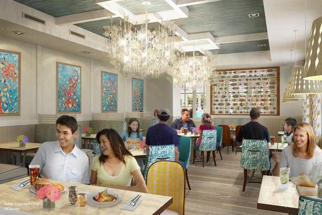 Sebastian's Bistro Coming to Disney's Caribbean Beach interior