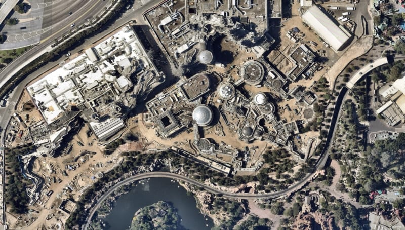 Latest Star Wars Galaxy's Edge Disneyland Aerial Construction photos