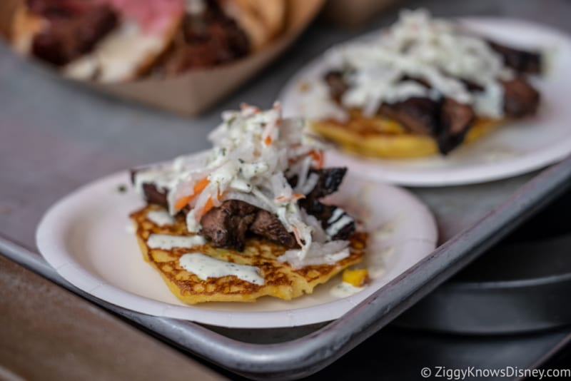 11 Must Try New Items 2018 Epcot Food and Wine Festival Charred Chimichurri Skirt Steak