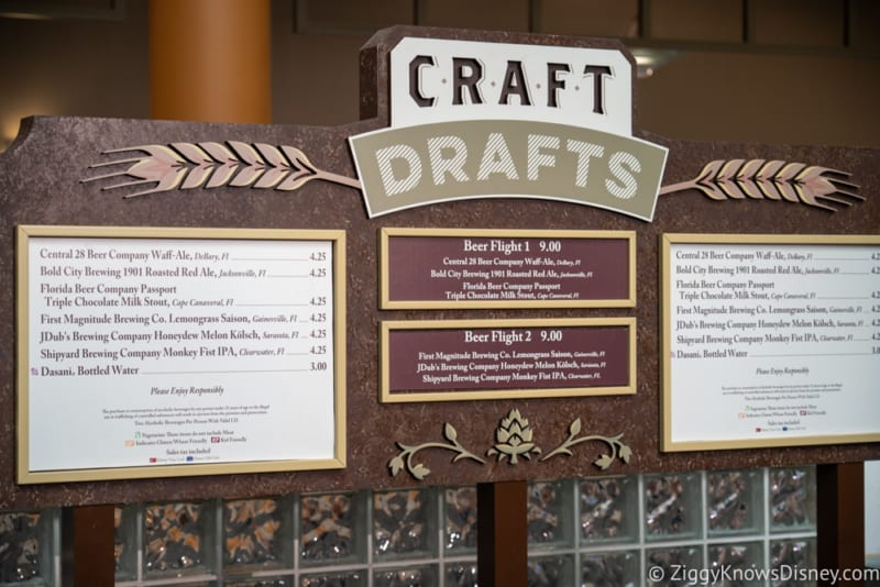 2018 Epcot Food and Wine Festival Menus Craft Drafts