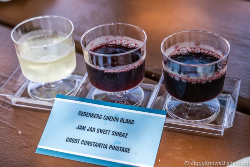 Africa Review 2019 Epcot Food and Wine Festival wine flight