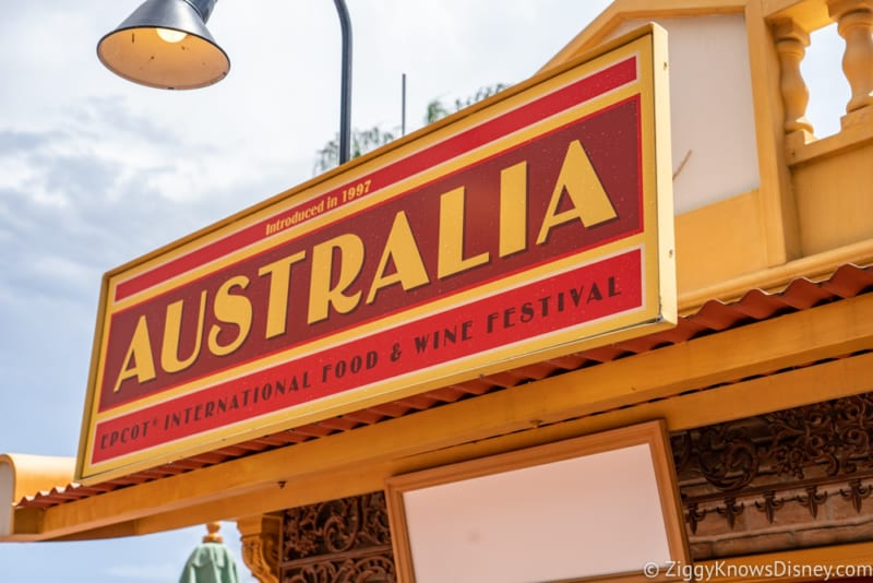 Australia Review 2019 Epcot Food and Wine Festival sign