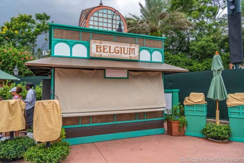 Belgium Review 2018 Epcot Food and Wine Festival booth