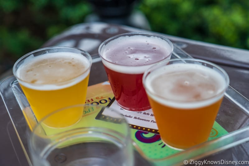 Brewer's Collection Review 2018 Epcot Food and Wine Festival beer flight
