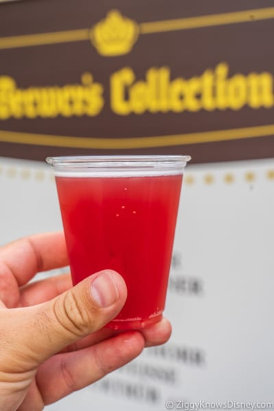 Brewer's Collection Review 2018 Epcot Food and Wine Festival pomegranate beer