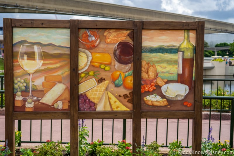 The Cheese Studio Review 2019 Epcot Food and Wine Festival mural