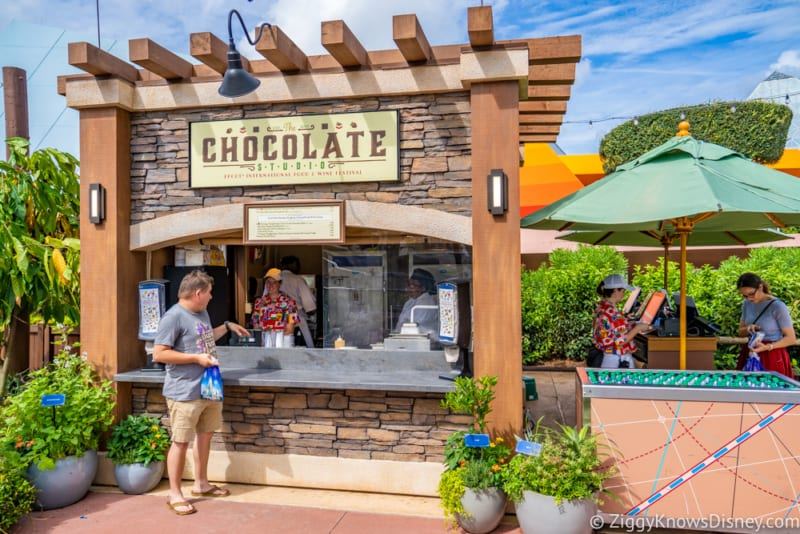 The Chocolate Studio Review 2018 Epcot Food and Wine Festival booth