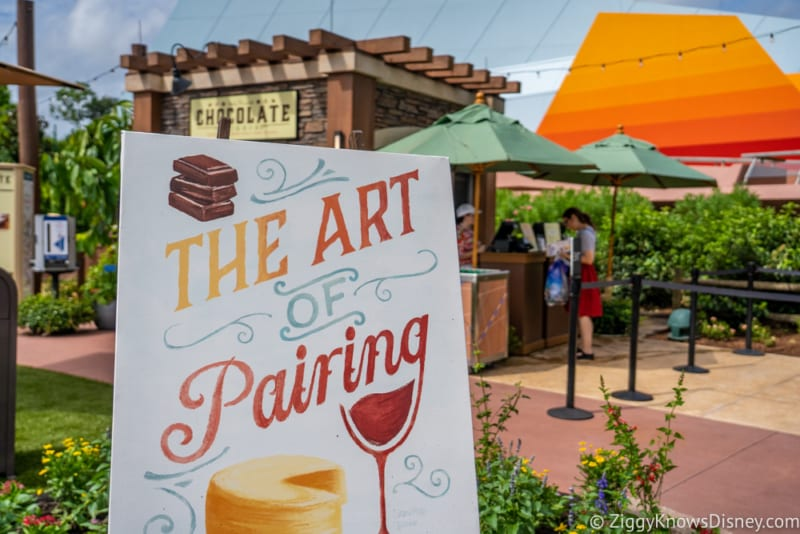 The Chocolate Studio Review 2018 Epcot Food and Wine Festival sign