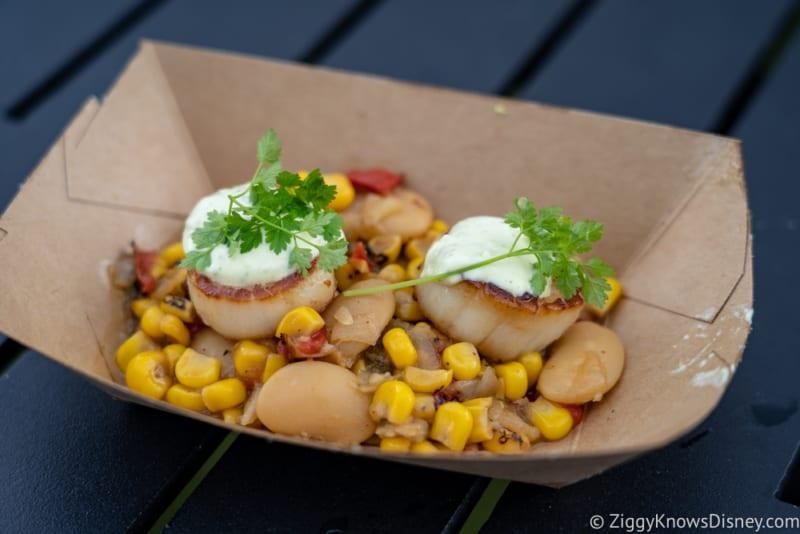 Coastal Eats Review 2018 Epcot Food and Wine Festival seared scallops
