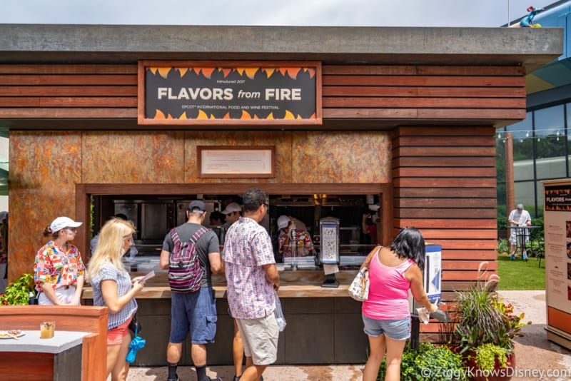 Flavors from Fire Review 2018 Epcot Food and Wine Festival booth