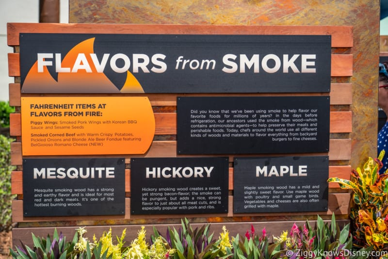 Flavors from Fire Review 2018 Epcot Food and Wine Festival sign