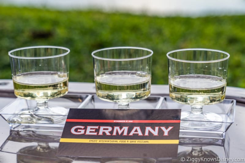 Germany Review 2018 Epcot Food and Wine Festival wine flight